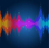 Vector equalizer, colorful musical bar Stock Photo