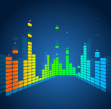 Vector equalizer, colorful musical bar Royalty Free Stock Photo