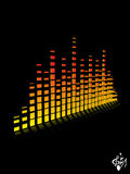 Vector equalizer digital with musical notes Royalty Free Stock Photo