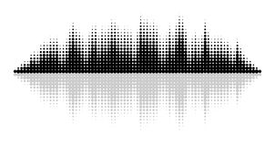 Vector Equalizer Effect Royalty Free Stock Image