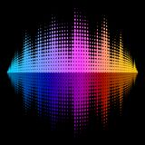 Vector Equalizer Effect Stock Photography