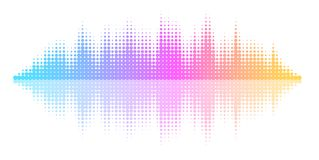 Vector Equalizer Effect Stock Photo