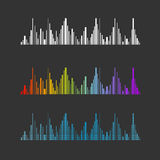 Vector equalizer set Royalty Free Stock Photography