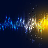 Vector equalizer. And sound wave Royalty Free Stock Photography