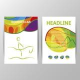 Vector Equestrian sport brochure template cover design. Stock Photos
