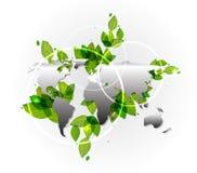 Vector Erdekarten-umreißhintergrund Lizenzfreies Stockfoto
