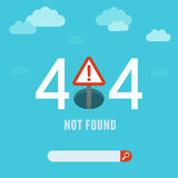 Vector 404 error page template Stock Images