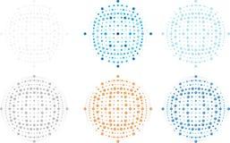 Vector a esfera editável, os pontos, os pontos, o componente resizable completo da imagem, do logotipo e do fundo foto de stock royalty free