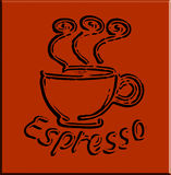 Vector Espresso Coffee Stock Images