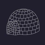 Vector esquimal de la casa del hielo del iglú libre illustration