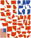 Vector estados de América Foto de Stock