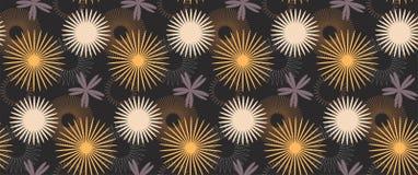 Vector estilizado colorido inconsútil del estampado de flores Foto de archivo libre de regalías