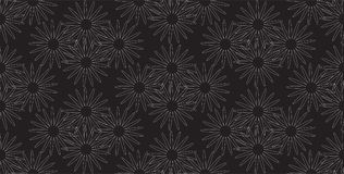 Vector estilizado simple inconsútil del estampado de flores Fotografía de archivo