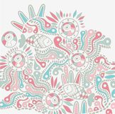 Vector ethnic abstract backdrop Royalty Free Stock Photography