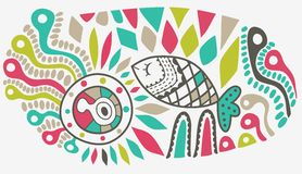 Vector ethnic abstract backdrop Stock Photo