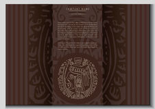 Vector ethnic booklet. With the head of a Mayan Royalty Free Stock Photo