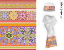 Vector ethnic border set. Royalty Free Stock Photography