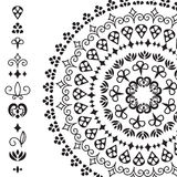 Vector ethnic design elements and rounded pattern Royalty Free Stock Photos