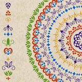 Vector ethnic design elements and rounded pattern Stock Photography