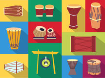 Vector ethnic drums Royalty Free Stock Photography