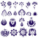 Vector ethnic flower set Royalty Free Stock Photography