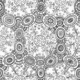 Vector ethnic forest seamless pattern for halloween Stock Photography