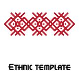 Vector ethnic frame template Royalty Free Stock Photos