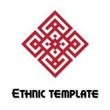 Vector ethnic frame template Stock Photo