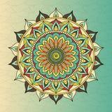 Vector ethnic oriental circle mandala Stock Image