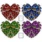 Vector ethnic ornament in the shape of heart. American Indians Royalty Free Stock Photos