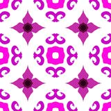 Vector ethnic pattern with Indian motifs Royalty Free Stock Photo