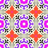 Vector ethnic pattern with Moroccan motifs Royalty Free Stock Image