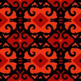 Vector ethnic pattern with stylized Kazakh motifs Stock Photo