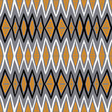 Vector ethnic pattern with zigzag lines Stock Images