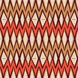 Vector ethnic pattern with zigzag lines Royalty Free Stock Photography