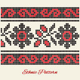 Vector ethnic pattern Royalty Free Stock Photo