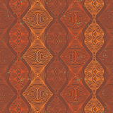 Vector ethnic seamless pattern. Vector seamless linear pattern in all shades of orange terracotta. Psychedelic wallpaper, spring fashion fabric, fashionable Stock Images
