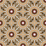 Vector ethnic seamless pattern. Abstract ethnic ornament with red orange beige red black elements, decorative texture Seamless symmetrical pattern, vector Stock Photos