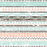 Vector ethnic seamless pattern. Hand drawn tribal striped orname Stock Image