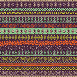 Vector ethnic seamless pattern. Hand drawn tribal striped  Royalty Free Stock Image