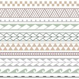 Vector ethnic seamless pattern in maori style. stock illustration