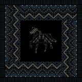 Vector ethnic seamless tribal boho pattern Royalty Free Stock Photo