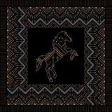 Vector ethnic seamless tribal boho pattern Royalty Free Stock Photography