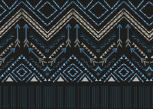 Vector ethnic seamless tribal boho pattern Royalty Free Stock Images
