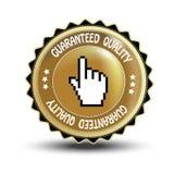 Vector etiket - gewaarborgde kwaliteit stock illustratie