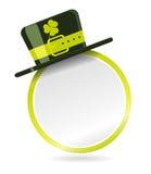 Vector etiket met hoed voor St. Patrick Day Royalty-vrije Stock Afbeeldingen