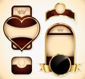 Vector Etiketten Royalty-vrije Stock Afbeelding