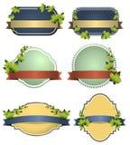 Vector etiketten Eco met retro uitstekend ontwerp Stock Fotografie