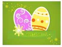 Vector - etiqueta engomada Pascua feliz Imágenes de archivo libres de regalías