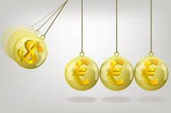 Vector euro money crisis concept art Stock Photography